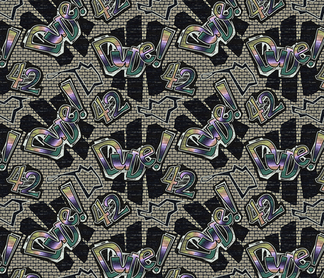dude42-muted fabric by glimmericks on Spoonflower - custom fabric