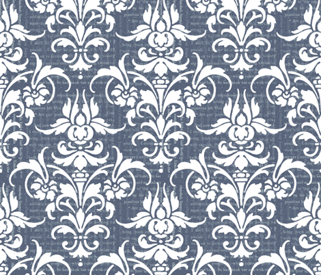 Cathy's Blue Jeans fabric by peacoquettedesigns on Spoonflower - custom fabric