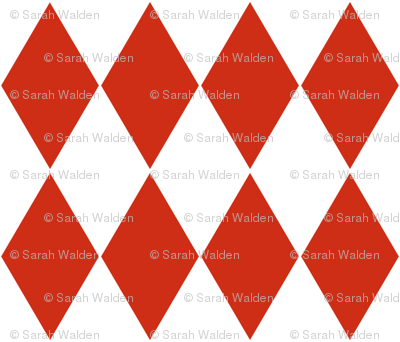 Harlequin Diamonds ~ Red and White