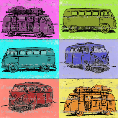 Camper Bus Holidays Hippie Camping
