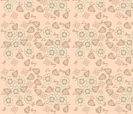 Joy of Spring Art Deco Design fabric by the_gleesome_besom on Spoonflower - custom fabric