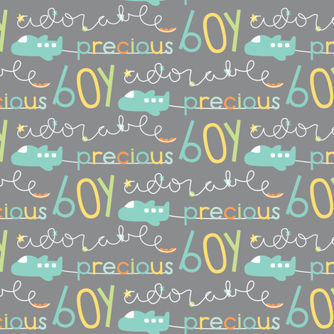 precious boy fabric by misstiina on Spoonflower - custom fabric