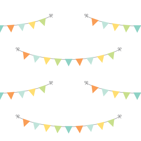 precious boy - bunting fabric by misstiina on Spoonflower - custom fabric