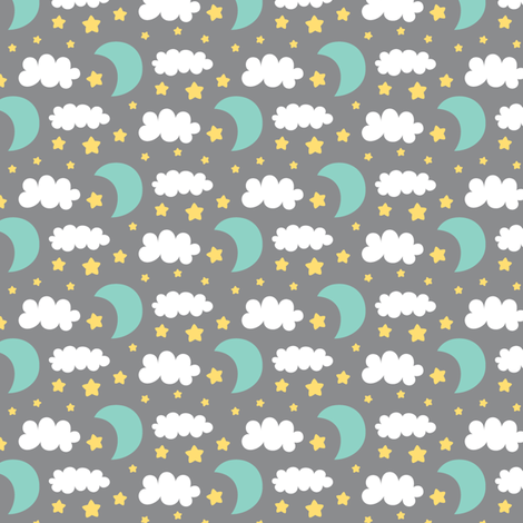 precious boy - night sky fabric by misstiina on Spoonflower - custom fabric