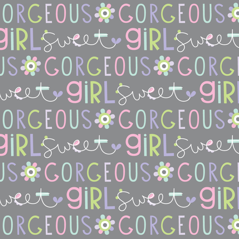 sweet girl fabric by misstiina on Spoonflower - custom fabric