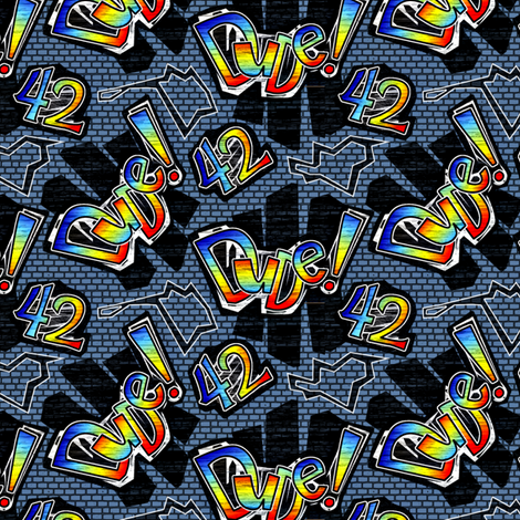 dude42-50percent blue fabric by glimmericks on Spoonflower - custom fabric