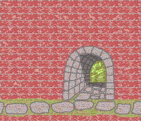 tunnel_art_brick_fq_plus fabric by khowardquilts on Spoonflower - custom fabric