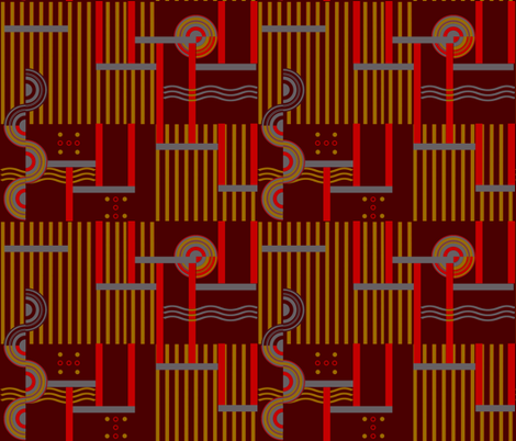 Red Deco fabric by poetryqn on Spoonflower - custom fabric