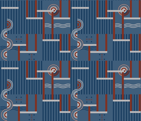 Deco Grey fabric by poetryqn on Spoonflower - custom fabric