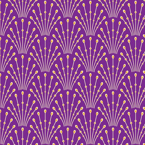 art deco beads - purple fabric by coggon_(roz_robinson) on Spoonflower - custom fabric