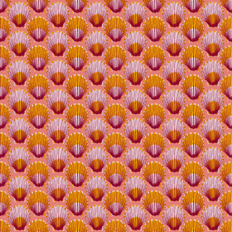 Scallops fabric by siya on Spoonflower - custom fabric