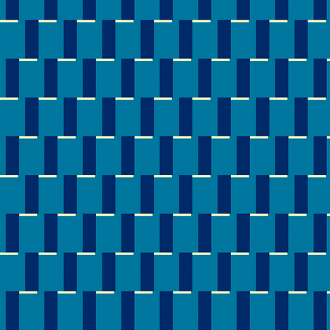 Retro Blue Steps fabric by stoflab on Spoonflower - custom fabric