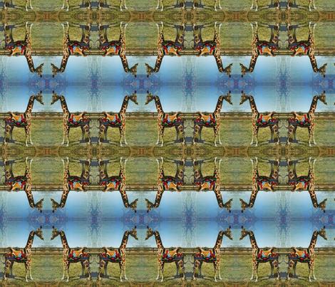 carousel_giraffe_fabric fabric by saintmaker on Spoonflower - custom fabric