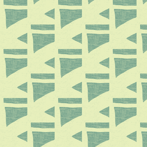 ladder in green and cream fabric by joybea on Spoonflower - custom fabric