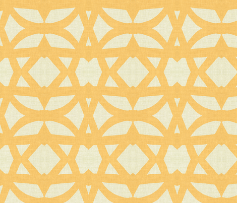 trellisin Gold and linen fabric by joybea on Spoonflower - custom fabric
