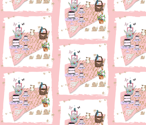 A Tea Party Picnic fabric by karenharveycox on Spoonflower - custom fabric