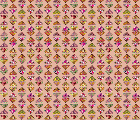 Diamonds on pink fabric by biancagreen on Spoonflower - custom fabric