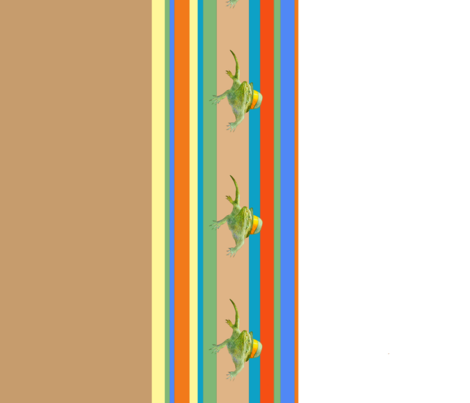 Iguana w/ Hat fabric by golders on Spoonflower - custom fabric
