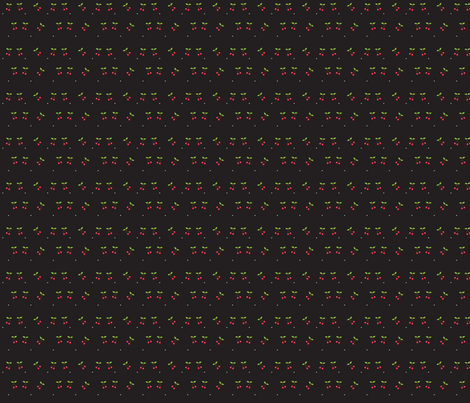 cherries_black_copy fabric by little_house_of_monsters on Spoonflower - custom fabric