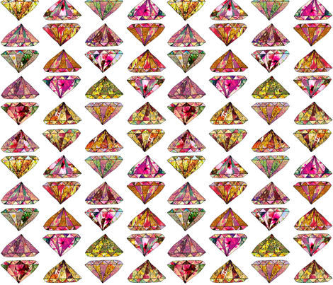 These Diamonds are forever fabric by biancagreen on Spoonflower - custom fabric