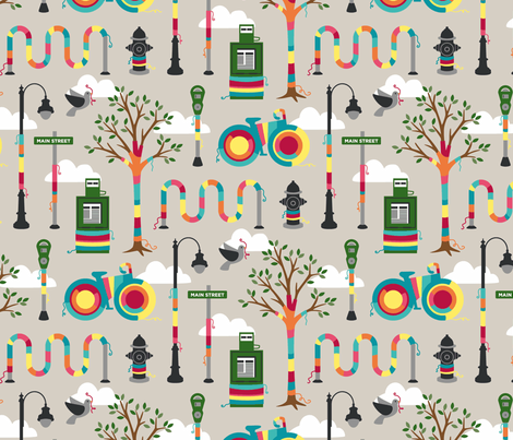 knit graffiti fabric by carcamella on Spoonflower - custom fabric