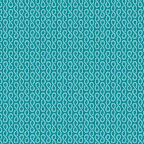 Rubi's Twist - Teal fabric by siya on Spoonflower - custom fabric