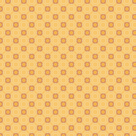 Hia's Mini Suns fabric by siya on Spoonflower - custom fabric