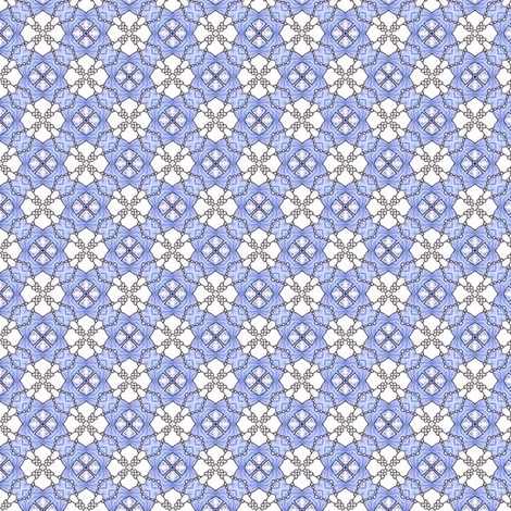 Delftflower Pearls fabric by siya on Spoonflower - custom fabric
