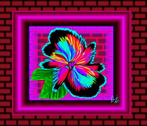 IntracateWildflower-Grafitti-WallArt1 fabric by grannynan on Spoonflower - custom fabric