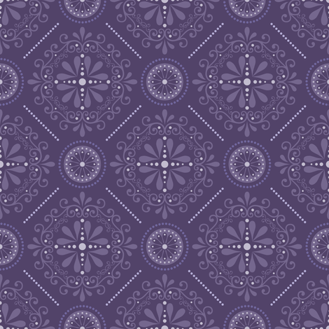 Cosmic Damask fabric by robyriker on Spoonflower - custom fabric