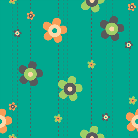 Summer Breeze - Flower Garland fabric by doodletrain on Spoonflower - custom fabric