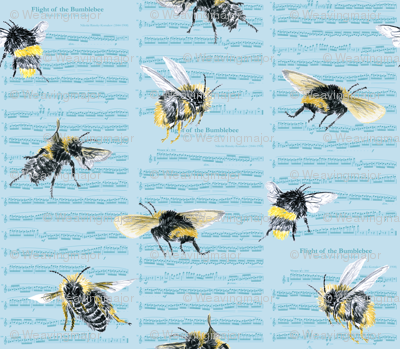 flight of the bumblebee - large blue