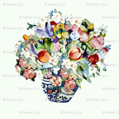Elizabeth Wu's Flowers on White