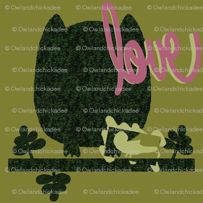Owl & Chickadee Moss Graffiti  + Stencil / Tag