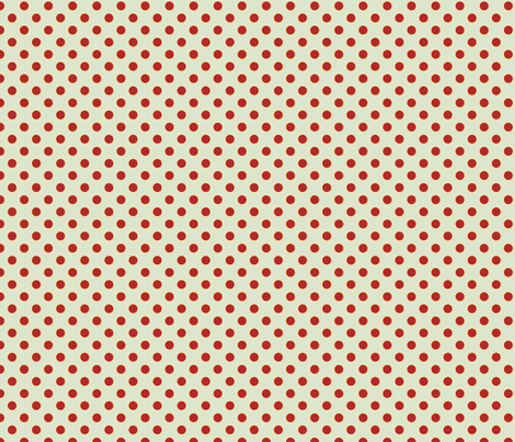 Light Blue with Red Dots - Vintage fabric by anntuck on Spoonflower - custom fabric
