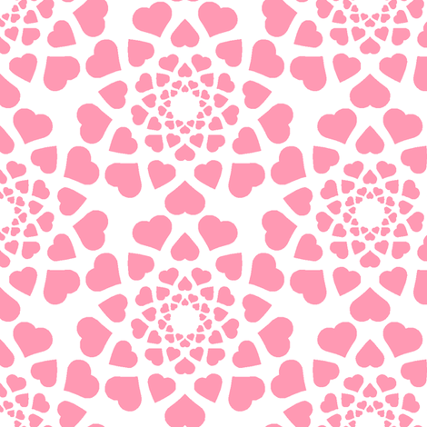 love is all around (pale) fabric by sef on Spoonflower - custom fabric