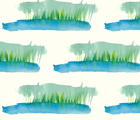 cestlaviv_grass blades 2 fabric by cest_la_viv on Spoonflower - custom fabric