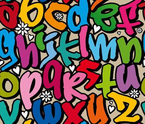 Graffiti fabric by cassiopee on Spoonflower - custom fabric