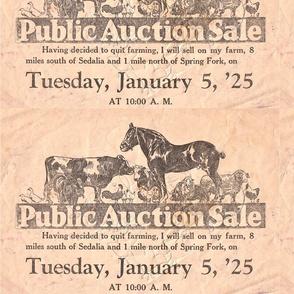 1925 Missouri Farm Auction