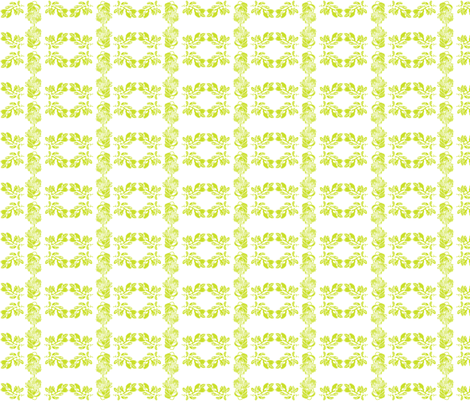 Protea and Leaf - Lime fabric by issimya on Spoonflower - custom fabric