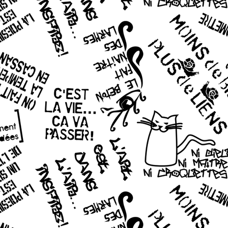 Graffiti from Paris fabric by mariao on Spoonflower - custom fabric