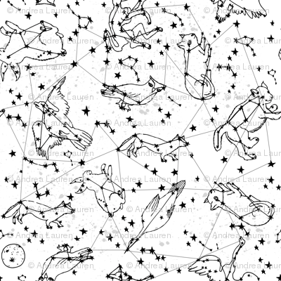 Animal Constellations - White