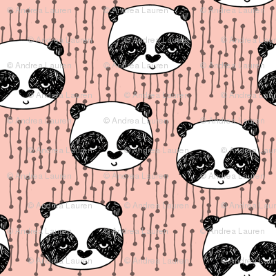 Panda - Pale Pink (Tiny version) by Andrea Lauren