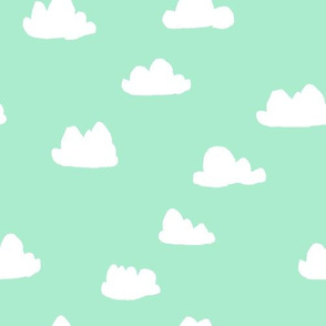 Clouds - Pistachio by Andrea Lauren