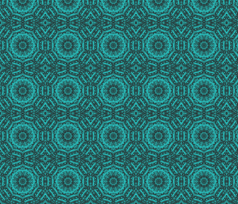 turquoise ribbons fabric by krs_expressions on Spoonflower - custom fabric