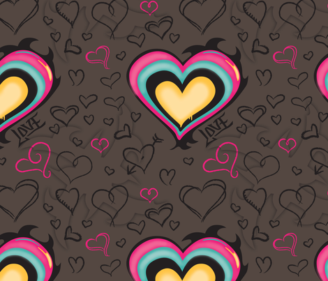 Love Tag fabric by pinkhippoquilts on Spoonflower - custom fabric
