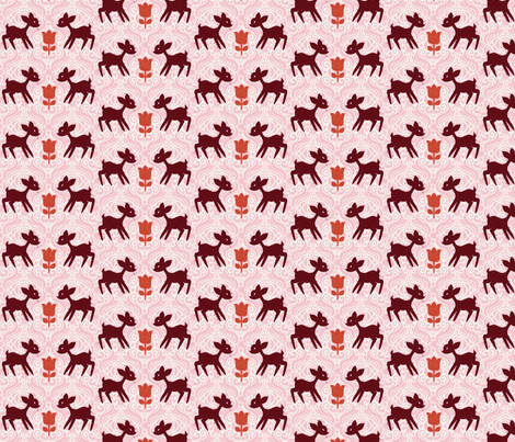 Street Deer fabric by nerida_jeannie on Spoonflower - custom fabric