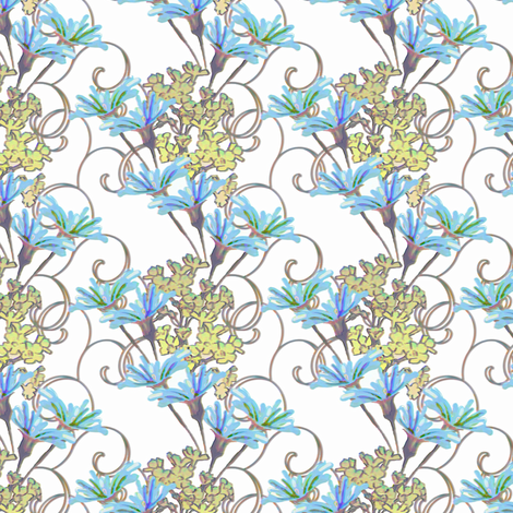 Batchelor's Buttons Daydream fabric by joanmclemore on Spoonflower - custom fabric