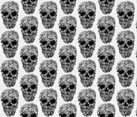 skull fabric by cocoanouk on Spoonflower - custom fabric