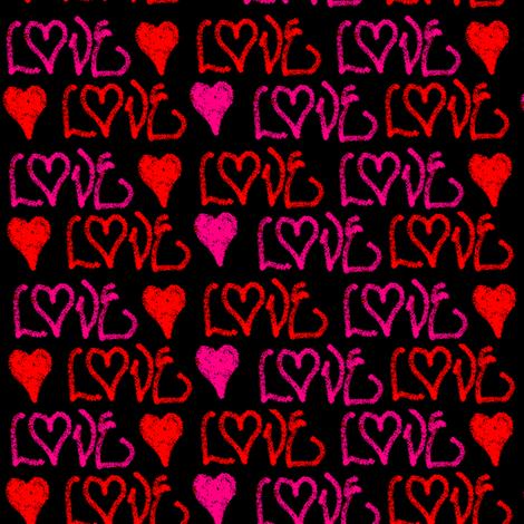 GraffitiLove fabric by tinag on Spoonflower - custom fabric